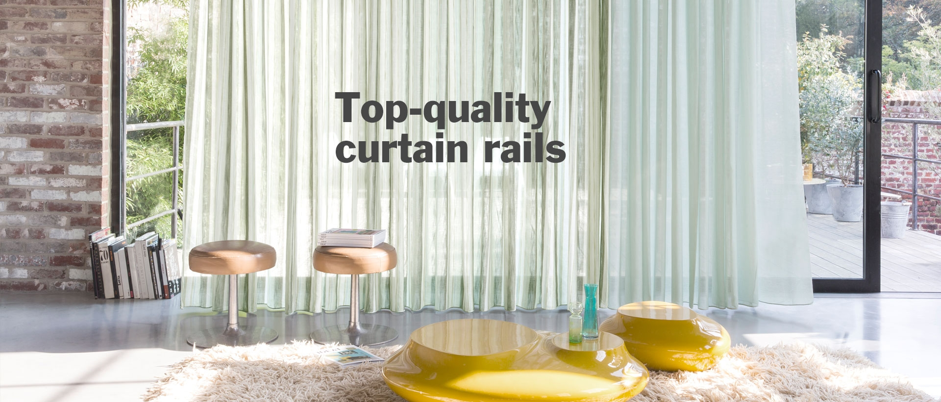 Top-quality curtain rails